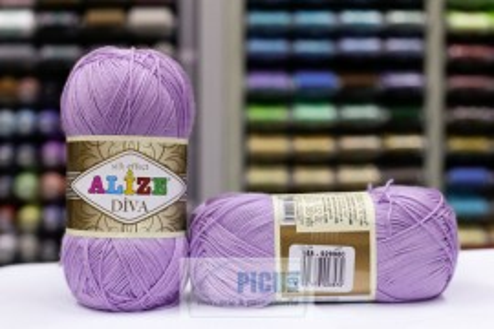 Poze Fir de tricotat sau crosetat - Fir microfibra ALIZE DIVA LILA 158