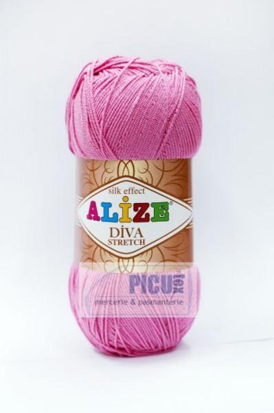 Poze Fir de tricotat sau crosetat - Fir microfibra ALIZE DIVA STRETCH ROZ 178