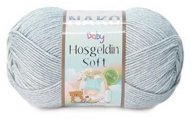 Poze Fir de tricotat sau crosetat - Fire amestec BAMBUS + POLIAMIDA NAKO Hoşgeldin Soft GRI 4895