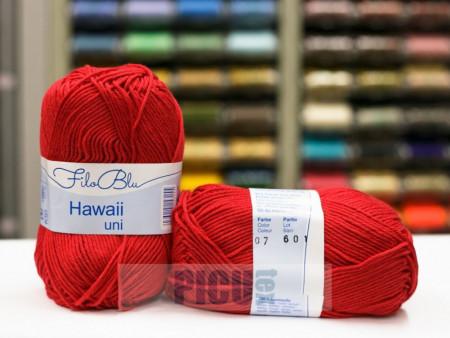 Poze Fir de tricotat sau crosetat - Fire amestec Bumbac 100% GRUNDL HAWAII UNI - ROSU - 07