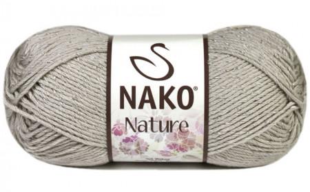 Poze Fir de tricotat sau crosetat - Fire amestec Bumbac + Acril + Vascoza NAKO NATURE GRI 3079