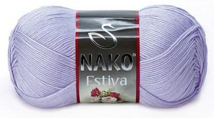 Poze Fir de tricotat sau crosetat - Fire amestec Bumbac + Bambus NAKO ESTIVA LILA 6888