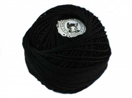 Poze Fir de tricotat sau crosetat - Fire Bumbac 100% ANGELICA ROMANOFIR BOBINA NEGRU 1201