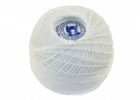 Poze Fir de tricotat sau crosetat - Fire Bumbac 100% MACRAME ROMANOFIR BOBINA ALB 1202