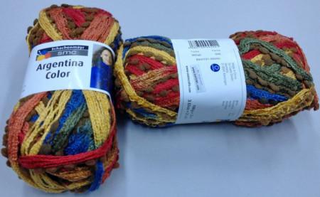Poze Fir de tricotat sau crosetat - Fire pretricotate esarfa Argentina Color degrade AC80