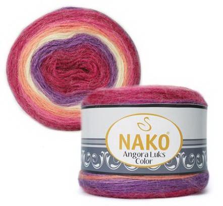 Poze Fir de tricotat sau crosetat - Fire tip mohair acril NAKO ANGORA LUKS COLOR 81917