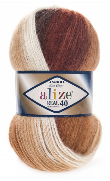 Poze Fir de tricotat sau crosetat - Fire tip mohair din acril Alize Angora Real 40 Batik degrade 2626