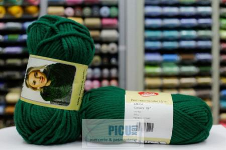 Poze Fir de tricotat sau crosetat - Fire tip mohair din acril AMICA VERDE - 327