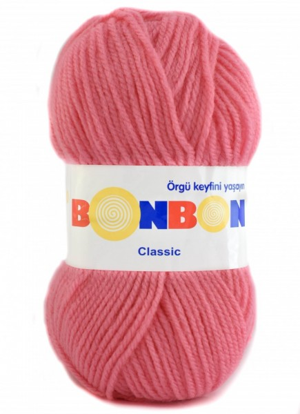 Poze Fir de tricotat sau crosetat - Fire tip mohair din acril BONBON CLASIC ROZ 98239