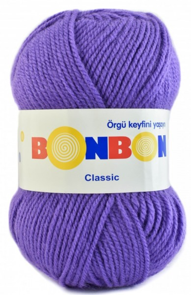 Poze Fir de tricotat sau crosetat - Fire tip mohair din acril BONBON CLASIC MOV 98241