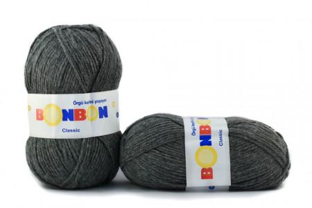 Poze Fir de tricotat sau crosetat - Fire tip mohair din acril BONBON CLASIC GRI 98242