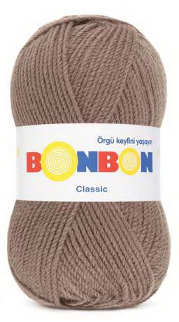 Poze Fir de tricotat sau crosetat - Fire tip mohair din acril BONBON CLASIC BEJ 98324