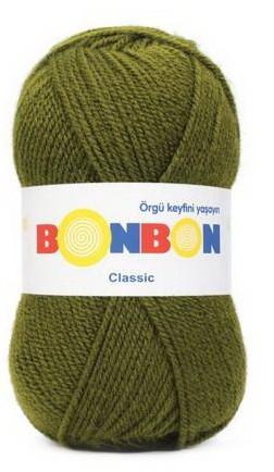 Poze Fir de tricotat sau crosetat - Fire tip mohair din acril BONBON CLASIC KAKI 98326