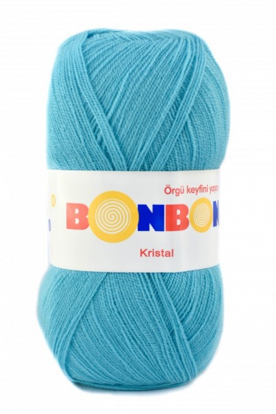 Poze Fir de tricotat sau crosetat - Fire tip mohair din acril BONBON KRISTAL ALBASTRU 98238