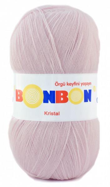 Poze Fir de tricotat sau crosetat - Fire tip mohair din acril BONBON KRISTAL crem 98331