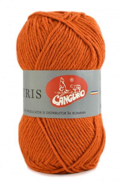 Poze Fir de tricotat sau crosetat - Fire tip mohair din acril CANGURO - TRIS PORTOCALIU 399