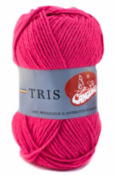 Poze Fir de tricotat sau crosetat - Fire tip mohair din acril CANGURO - TRIS ROZ 308
