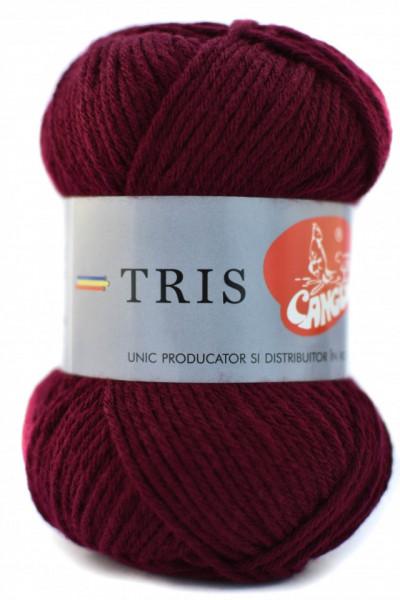Poze Fir de tricotat sau crosetat - Fire tip mohair din acril CANGURO - TRIS GRENA 316