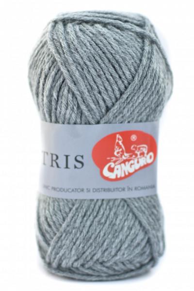 Poze Fir de tricotat sau crosetat - Fire tip mohair din acril CANGURO - TRIS GRI 341
