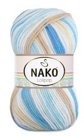 Poze Fir de tricotat sau crosetat - Fire tip mohair din acril degrade Nako Lolipop degrade 80435