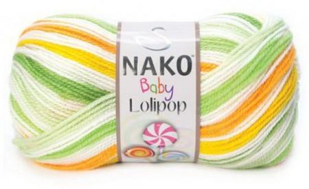 Poze Fir de tricotat sau crosetat - Fire tip mohair din acril degrade Nako Lolipop verde 80437