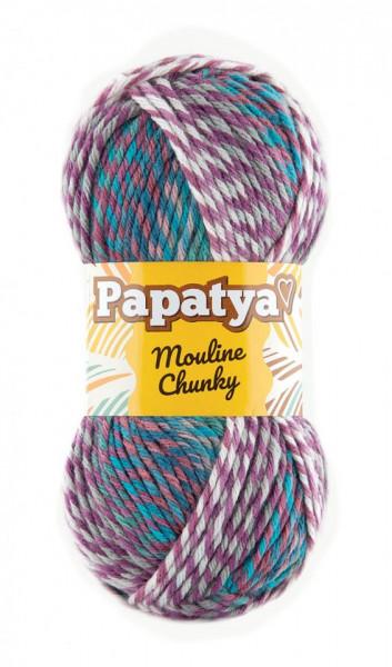 Poze Fir de tricotat sau crosetat - Fire tip mohair din acril Kamgarn Papatya Mouline Chunky Degrade 6581
