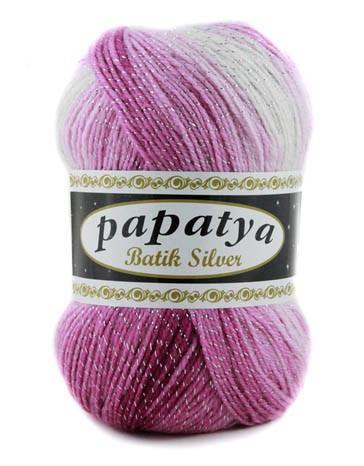 Poze Fir de tricotat sau crosetat - Fire tip mohair din acril Kamgarn Papatya Silver Batik degrade 04
