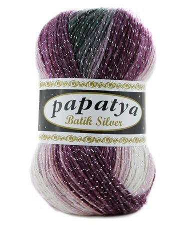 Poze Fir de tricotat sau crosetat - Fire tip mohair din acril Kamgarn Papatya Silver Batik degrade 22