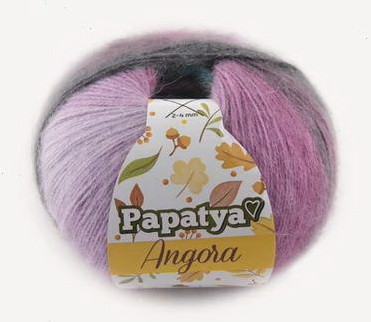 Poze Fir de tricotat sau crosetat - Fire tip mohair din acril Kamgarn Papatya Angora degrade 82
