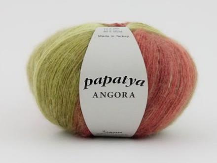 Poze Fir de tricotat sau crosetat - Fire tip mohair din acril Kamgarn Papatya Angora degrade 16
