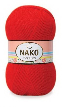 Poze Fir de tricotat sau crosetat - Fire tip mohair din acril NAKO BABY - BEBE 100 rosu 207