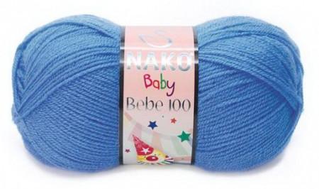 Poze Fir de tricotat sau crosetat - Fire tip mohair din acril Nako Baby bleo 1256