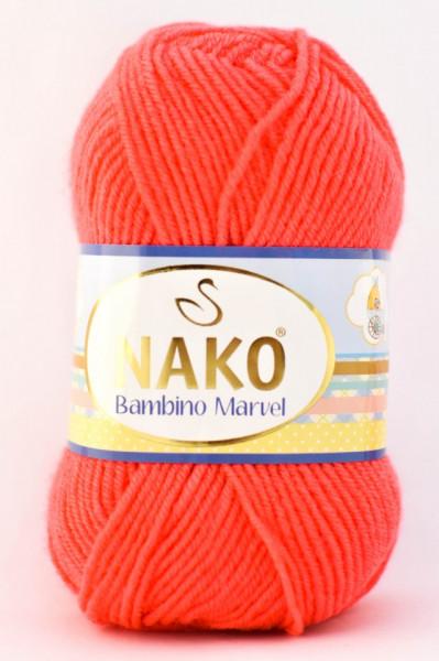 Poze Fir de tricotat sau crosetat - Fire tip mohair din acril Nako Baby MARVEL PORTOCALIU 5874