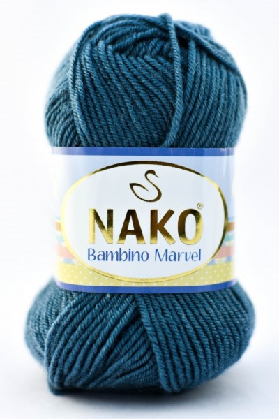 Poze Fir de tricotat sau crosetat - Fire tip mohair din acril Nako Baby MARVEL GRI PETROL 185