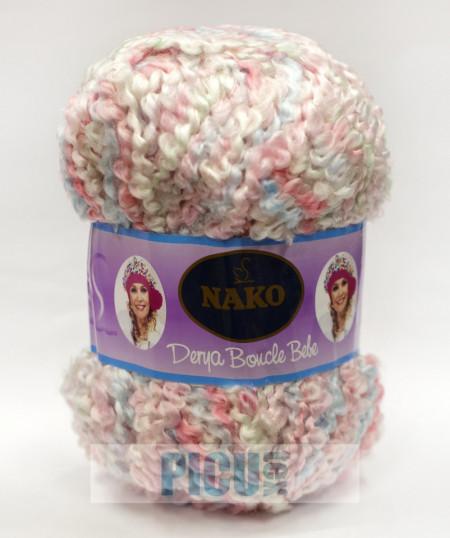 Poze Fir de tricotat sau crosetat - Fire tip mohair din acril NAKO DERYA BOUCLE BEBE degrade 7244