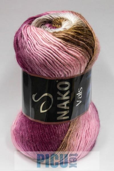 Poze Fir de tricotat sau crosetat - Fire tip mohair din acril premium Nako VALS DEGRADE 86330