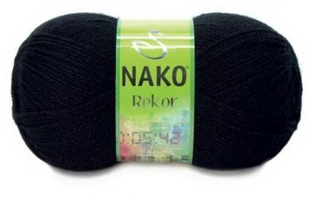 Poze Fir de tricotat sau crosetat - Fire tip mohair din acril premium Nako REKOR NEGRU 217