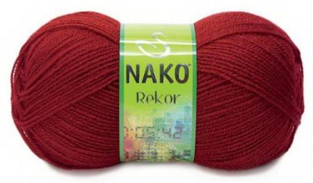 Poze Fir de tricotat sau crosetat - Fire tip mohair din acril premium Nako REKOR ROSU 1175