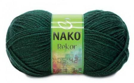 Poze Fir de tricotat sau crosetat - Fire tip mohair din acril premium Nako REKOR VERDE 3601