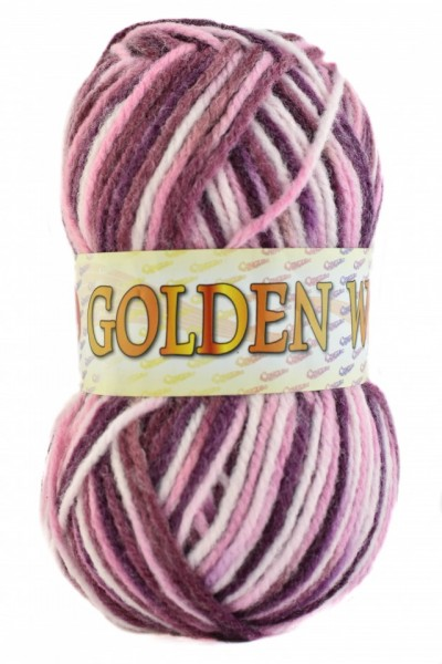 Poze Fir de tricotat sau crosetat - Fire tip mohair din acril si lana GOLDEN WOOL IMPRIMAT - 361