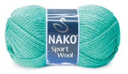 Poze Fir de tricotat sau crosetat - Fire tip mohair din acril si lana Nako Sport Wool Turquaz 10567