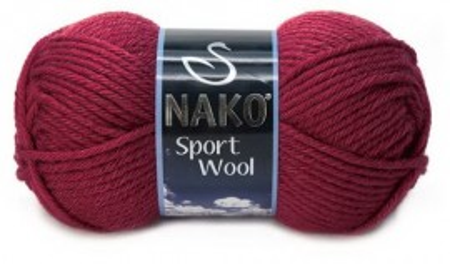 Poze Fir de tricotat sau crosetat - Fire tip mohair din acril si lana Nako Sport Wool GRENA 6592