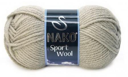 Poze Fir de tricotat sau crosetat - Fire tip mohair din acril si lana Nako Sport Wool GRI 10007