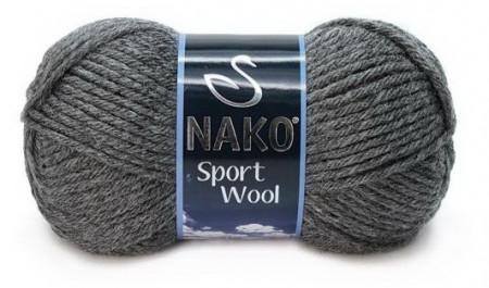 Poze Fir de tricotat sau crosetat - Fire tip mohair din acril si lana Nako Sport Wool GRI 193