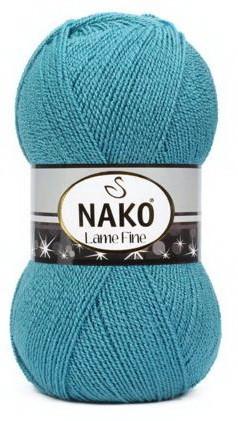 Poze Fir de tricotat sau crosetat - Fire tip mohair din acril si poliester metalic NAKO LAME FINE BLEO 5498