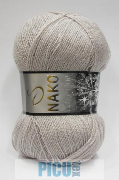 Poze Fir de tricotat sau crosetat - Fire tip mohair din acril si poliester metalic NAKO LAME FINE GRI 3079SE