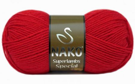 Poze Fir de tricotat sau crosetat - Fire tip mohair din lana 50% si acril 50% Nako Superlambs Special ROSU 6454