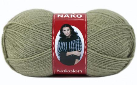 Poze Fir de tricotat sau crosetat - Fire tip mohair din lana 50% si acril 50% Nakolen VERDE 5054
