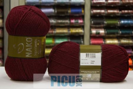 Poze Fir de tricotat sau crosetat - Fire tip mohair din lana 50% si acril 50% Nako Superlambs Special GRENA 6592