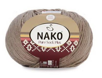 Poze Fir de tricotat sau crosetat - Fire tip mohair din lana si polyamida Nako PURE SOCK PLUS BEJ 257